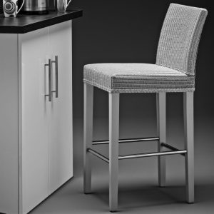 Lloyd Loom Belgravia Bar Chair In Chelsea Grey