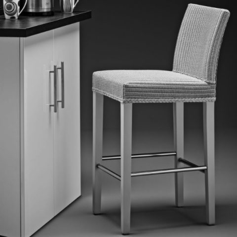 Lloyd Loom Belgravia Bar Chair In Chelsea Grey