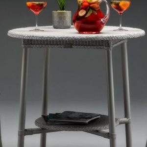 Lloyd Loom Blenheim Bistro Table In Chelsea Grey