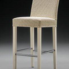 Lloyd Loom Belgravia Bar Chair Front View Crisp Linen