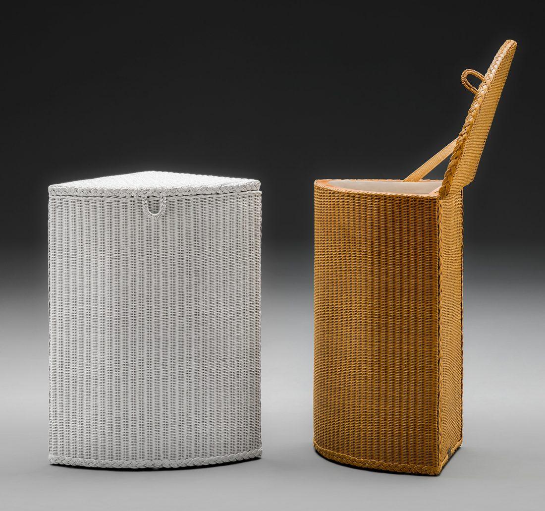 Lloyd Loom Corner Linen Baskets