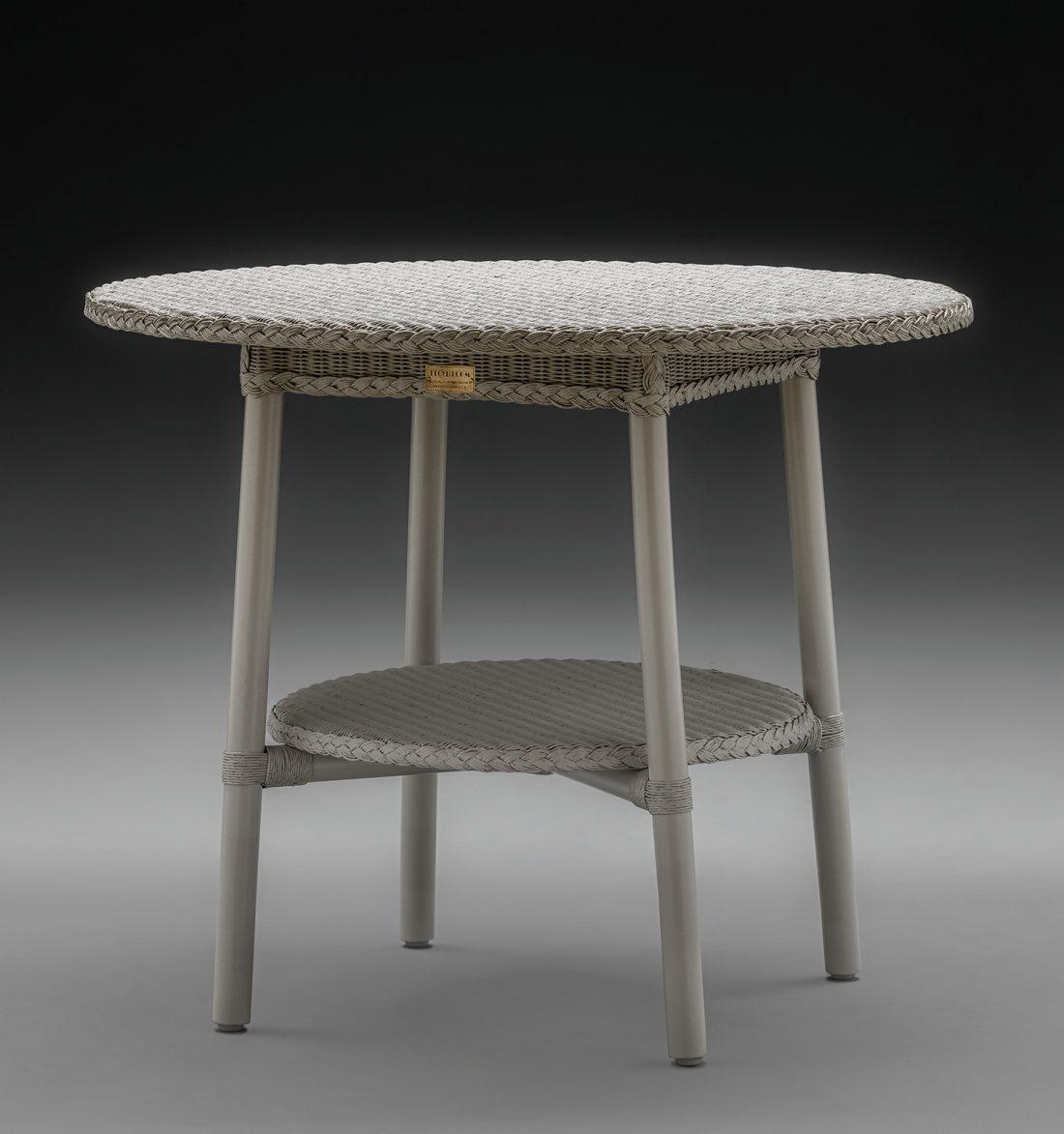 Lloyd Loom Café Table In Chelsea Grey