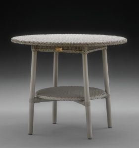 Lloyd Loom Café Table In Chelsea Grey