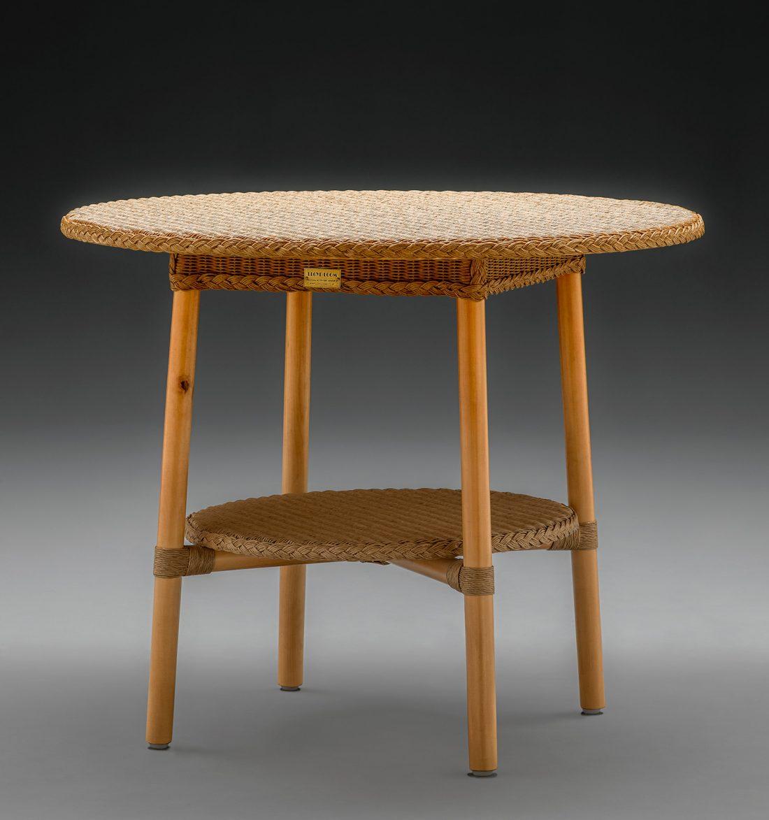 Lloyd Loom Café Table In Natural