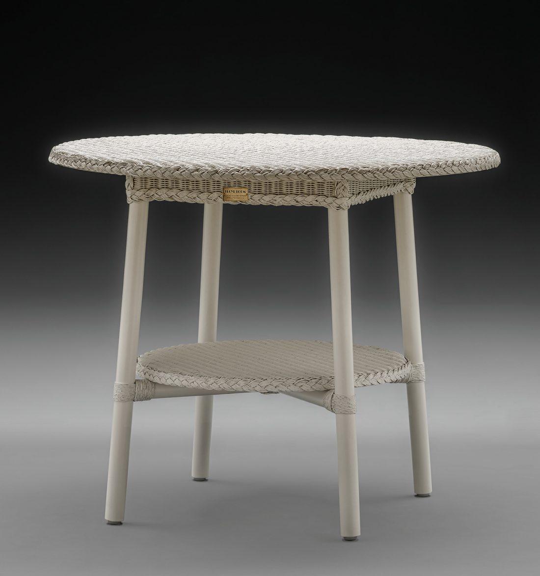 Lloyd Loom Café Table In Soho White