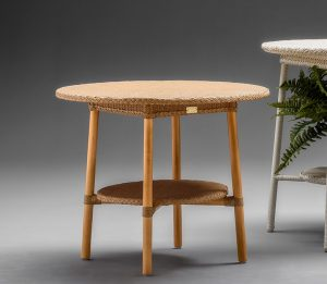 Lloyd Loom Café Table In Natural
