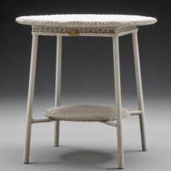 Lloyd Loom Outdoor Table In Chelsea Grey