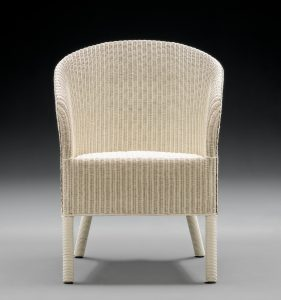 Lloyd Loom Chairs - The Henley Range - Crisp Linen Front View