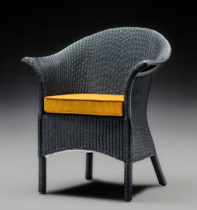 Heritage Edition Lloyd Loom Chair In Westminster Blue Front View