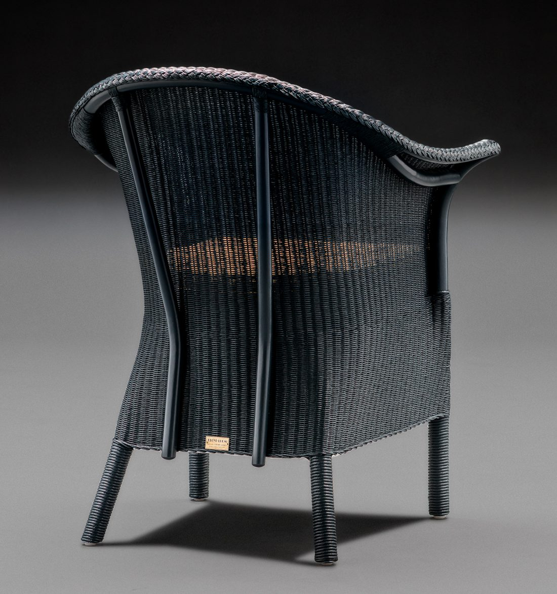 Heritage Edition Lloyd Loom Chair In Westminster Blue Back View