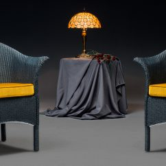 Heritage Edition Lloyd Loom Chair In Westminster Blue