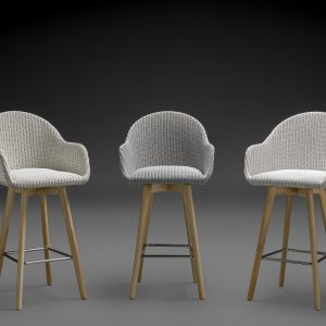 Handmade Lloyd Loom Bar Stools - The Carnaby Range In Various Colours
