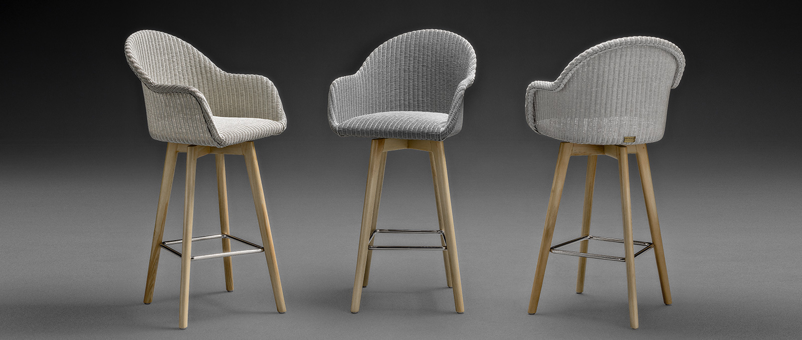 Lloyd Loom Bar Chairs - Carnaby Bar Stool Swivel Range