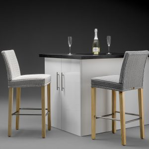 Lloyd Loom Belgravia Bar Chair with Natural Light Wood Legs