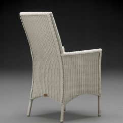 Lloyd Loom Parabola Arm Chair In Crisp Linen
