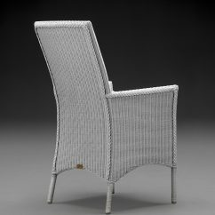 Lloyd Loom Parabola Arm Chair In Chelsea Grey From The Back