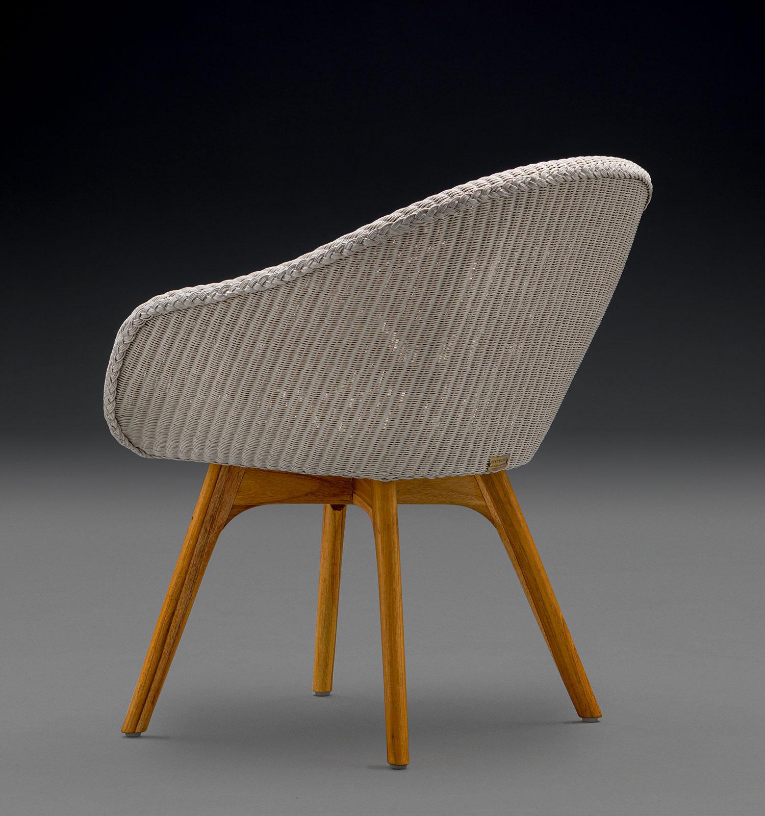 The Carnaby Lloyd Loom Chair In Crisp Linen